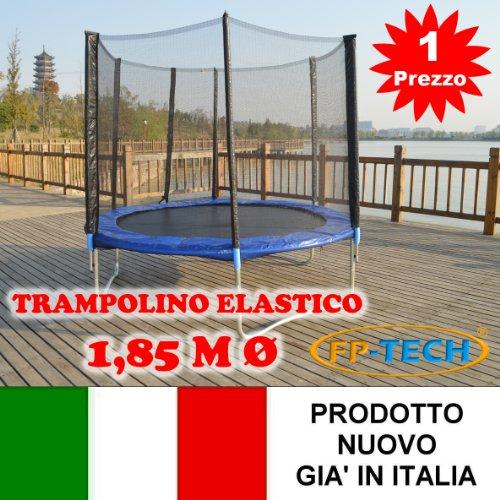 FP-TECH Trampolino Elastico da Giardino Tappeto Elastico Esterno Sport Rete (185cm - 6FT)