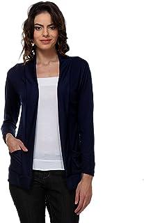 Teemoods Women's Cotton Full Sleeves Shrug with Pocket, Summer Shrug for Ladies
