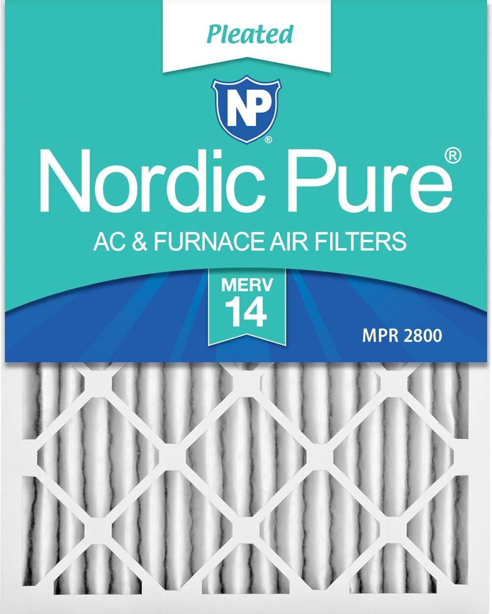 Nordic Pure 18x25x2 Super sale period limited MERV 13 Pleated Filters Award 3 Furnace AC Pac Air