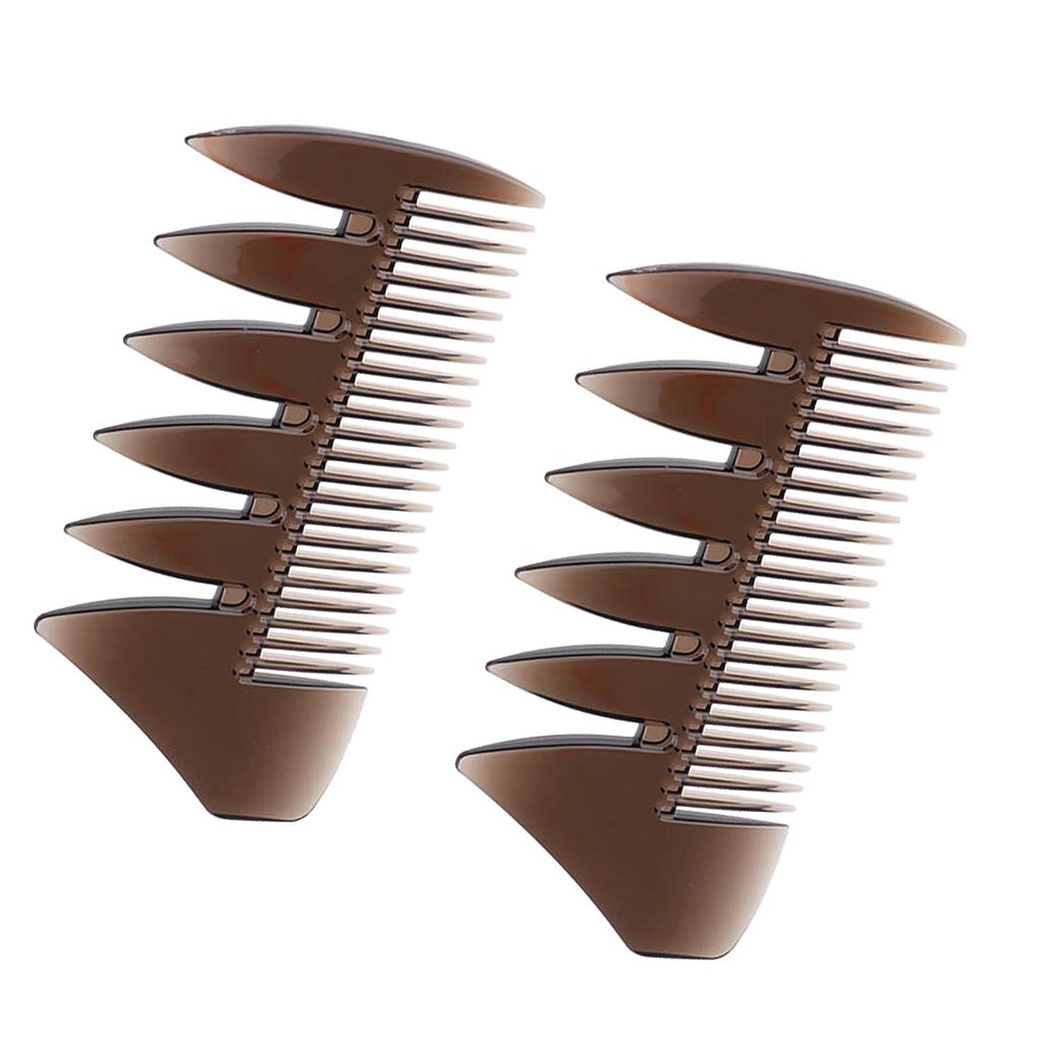 もう一度悪行有用Sharplace ヘアコンビ デュアルサイド メンズ 髪櫛 ヘアサロン ヘアスタイリング 散髪店/美容院専用櫛2個入