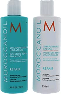 Moroccanoil Moisture Repair Shampoo and Conditioner Combo Pack, 250ml each