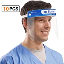 Safety Face Shield [10 Pack] Adjustable Elastic strip, Transparent Full Face Protective..