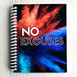 TrainRite Compact Fitness Journal - NO EXCUSES - Burst (Exercise Log Book)
