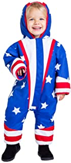 Toddler American Flag Ski Suit - USA Stars and Stripes Ski Suit for Baby