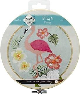 Needle Creations NC-FHP 毛毡环套件 6 英寸火烈鸟