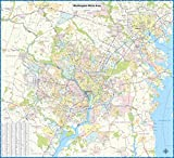 Washington DC Metro Area Laminated Wall Map (46' Wide x 42' high)