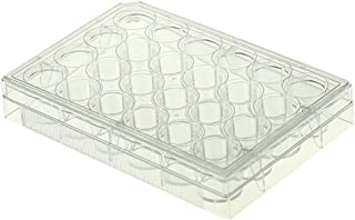 Nest Scientific 702011 Polystyrene 24 Well Cell Culture Plate, Flat Bottom, Non-Treated, Sterile, Clear, 1 per Pack, 50 per Case (Pack of 50)