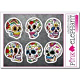 pinkelephant Totenkopf Aufkleber - Sugar Skull ssk25-30 - A5-Bogen calavera Day of the dead Dia de...