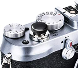 JJC Compatible Soft Shutter Release Button Cap for Fuji Fujifilm X-T30 XT30 X-T3 XT3 X100F X-Pro2 X-Pro1 X-T2 X-E3 X-E2S X-T20 X-T10 X100T X100S for Sony RX10 IV III II, RX1RII RX1R RX1 / B Black