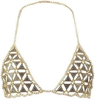 MineSign Diamond Sexy Chain Necklace Summer Bikini Bra Accessories Beach Party Body Jewelry