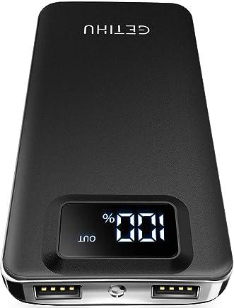 GETIHU Portable Charger, LED Display 10000mAh Power Bank,...