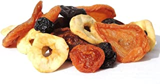 Dried Mixed Fruit with Prunes by It's Delish, 2 lbs | Snack Mix of Prunes, Apricots, Plums, Apple Rings, Nectarines, Peach...