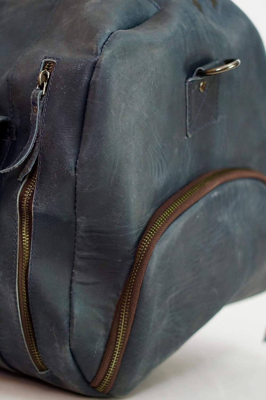 PRASTARA 24 Inch Classic Full Grain Leather Weekender Travel Overnight Luggage Duffel Bag