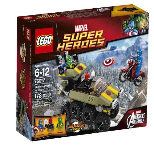 "LEGO Superheroes 76017 Captain America vs. Hydra 10.3 x 7.5 x 2.4"" 12.6 Ounces"