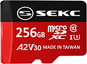 $40 » Sponsored Ad - SEKC 256GB microSDXC Memory Card with SD Adapter A2 UHS-I U3 V30 Full HD 4K Ultra HD (SV30A2256)