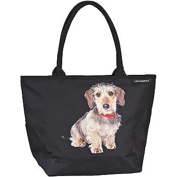 VON LILIENFELD Bolsa Compra Shopper Grande de Playa Bandolera Mujerr Perro Salchicha Dachshund: Amazon.es: Equipaje