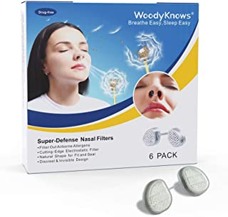 WoodyKnows Super-Defense Nasal Filters (Narrow (S+M+L+XL), Nasal Filter-trial Combo 4 Pack)