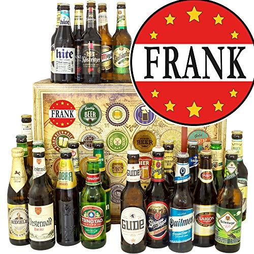Frank/Bierbox Welt und DE/Frank Namenstag Geschenk/Bier Geschenk Adventskalender
