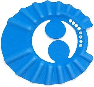 JIALEEY Leak Proof Baby Bath Visor Safe Shampoo Shower Bathing Protection Bath Cap Soft Adjustable Visor Hat for Baby, Toddler, Kids (Blue)