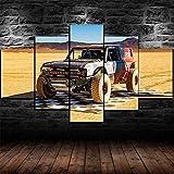 Impresiones sobre Lienzo Coche De Carreras Fod Bronco R 5 Cuadros En Lienzo Modernos Salón Decoracion Murales Pared Lona XXL Grande Hogar Dormitorios Arte Pared HD Impresión Foto