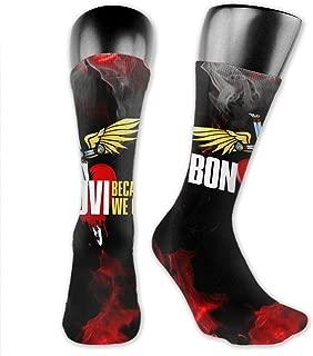 JohnBHaws Bon Jovi Logo Retro Style Soft Unisex Antibacterial Crew Socks