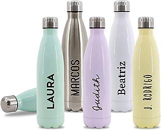 comprar comparacion Getsingular Botellas de Agua de Acero Inoxidable Personalizadas con Tu Nombre | Botellas térmicas de Doble Capa | Libre de...