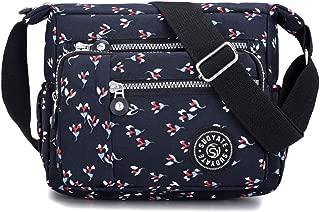 Women's Classic Versatile Crossbody Bag Soft Nylon Purses,Lady Travel Handbags Multi Pocket Shoulder Bag