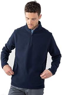 Henbury Mens Zip Neck Micro Fleece Top