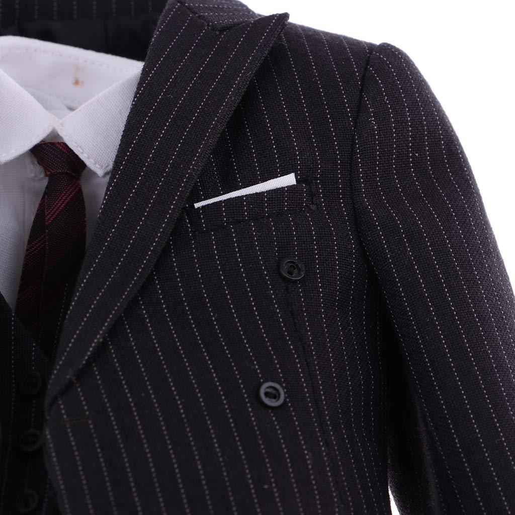 Amazon.es: Hellery Traje De Tela A Escala 1/6 Y Camisa Blanca Y Pantalones Y Chaleco Y Corbata Y Chaleco Combinado para Juguetes Calientes 12 Pulgadas Figura Masculina A - Accesorios A: Juguetes