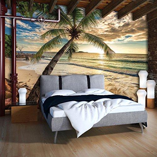 DekoShop Fototapete Vlies Tapete Moderne Wanddeko Wandtapete Strand AMD11732VEXXXL VEXXXL (416cm. x 254cm.) Strand und Tropen