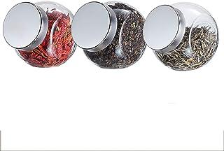 Cuisine aux épices Conteneurs Jars, verre transparent Canister avec couvercle, rangement des aliments Jars for la cuisine ...