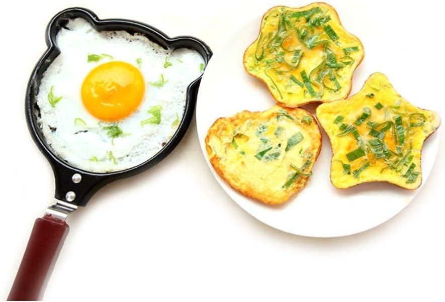 Poêle à Frire Fer Poêles à Frire Oeufs, poêle à Omelette à crêpes à Induction, économiser l'huile Alimentaire, Noir 12 cm A