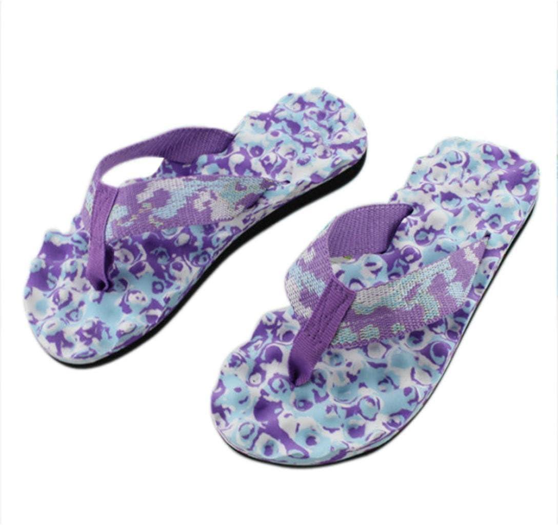 Women's Flip-Flop, Amiley Women Summer Camouflage Home Beach Thong Sandals Slipper indoor & outdoor Flip-flops Leisure Shoes (US 8 (RU/EU/CN:39), Purple)