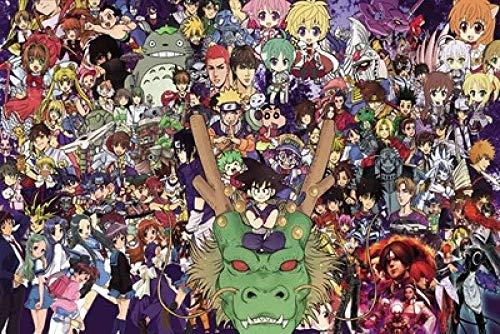 VGFTP puzzels 1000 stukjes, houten puzzel, foto puzzel, kinderen decompressi op puzzel voor volwassen kinderen thuis schilderen - film anime