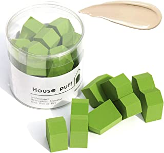 SFGD Beauty Egg Square Makeup Sponge Wet and Dry Makeup Puff Beautiful Tool Makeup Accessories Portable Small Puff (Green)