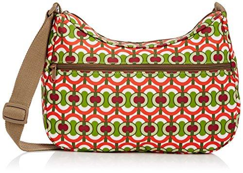 Re-Uz Oilcloth Messenger - Swirls, Verde Rosso