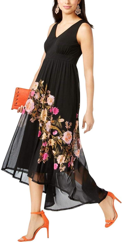 INC Womens Printed ALine HighLow Dress
