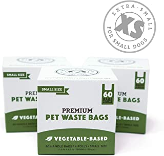 Biodegradable Poop Bags   Dog Waste Bags for Small Dogs & Puppies, Unscented, Vegetable-Based & Eco-Friendly, Premium Thickness & Leak Proof, Easy Detach & Open, Supports Rescues
