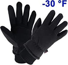 OZERO Winter Gloves Water Resistant Thermal Glove with Deerskin Suede Leather and..