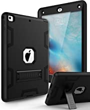 Case for New iPad 9.7 2018,iPad 6th/5th Generation Case,Three Layer Shockproof Armor Defender Protective Case Cover for Apple iPad 9.7 2017/2018 A1893 A1954 A1822 A1823,Black