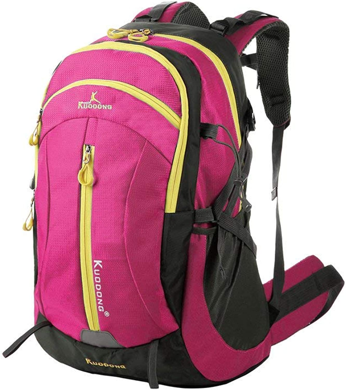 Men's Fashion Backpack Casual Daypacks Outdoor Mountaineering Bag Camping Trip Backpack Sports Backpack Casual Backpack (color   pink Red, Size   M)