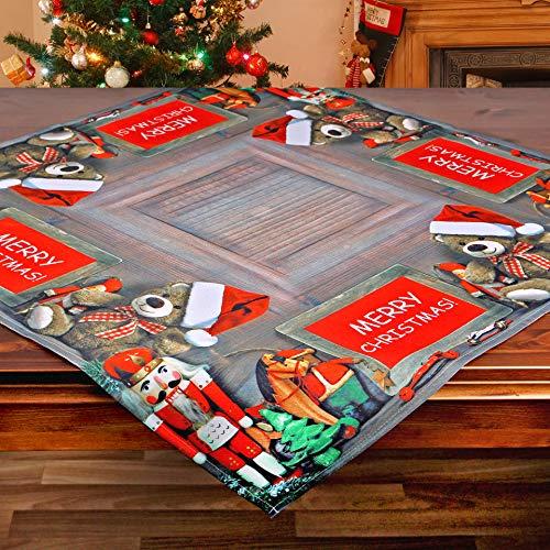 Kamaca Tischdecke X-Mas Presents hochwertiges Druck-Motiv mit wundervollen weihnachtlichen Motiven EIN Schmuckstück Winter Advent Weihnachten (X-Mas Presents, Tischdecke 85x85 cm)