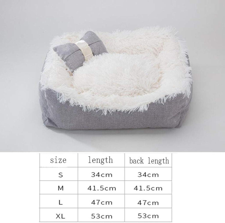 Hootiny Kennel Cat Litter Four Seasons Universal Dog Kennel Dog Bed Winter Warm Pet Supplies,C,M