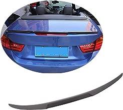 MCARCAR KIT Trunk Spoiler fits BMW F83 M4 F33 428i 430i 435i 440i Convertible 2014-2019 Factory Outlet Carbon Fiber CF Rear Boot Lid Highkick Wing Lip