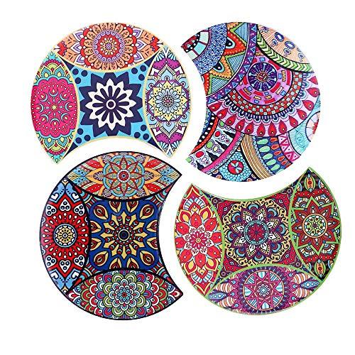 Flanacom Design Untersetzer im 4er Set – Dekorative Keramik Untersetzer für Glas, Tassen, Vasen,...