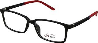 Retro Unisex-adult Spectacle Frames Rectangular 3002 M.Black/Red, 54