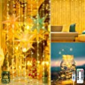 LightsEtc 300 LED USB Powered String Curtain Lights with Remote