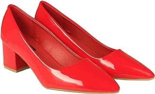 Flat n Heels Womens Red Pumps FnH 853-RD