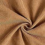 Fabulous Fabrics Cord Uni – braun — Meterware ab 0,5m
