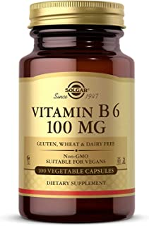 Solgar Vitamin B6 Vegetable Capsules, 100 mg, 100 Count